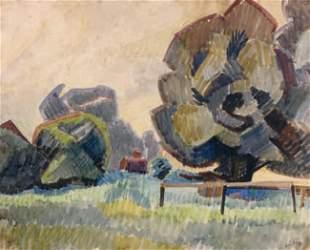 179: Auguste HERBIN - Paysage