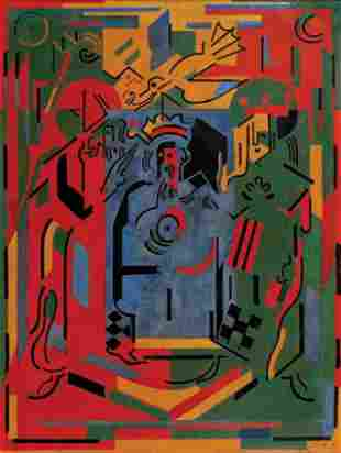 181: Albert GLEIZES - Au palais ou le sacre, 1942