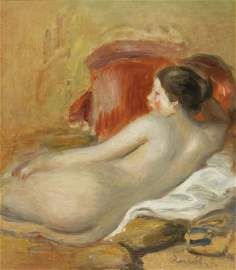192: Pierre-Auguste RENOIR - Mod�le allong�, 1906
