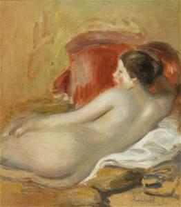 192: Pierre-Auguste RENOIR - Modèle allongé, 1906