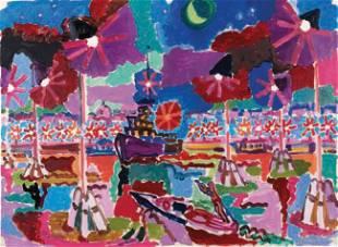 225: Charles LAPICQUE - Bateau sur la lagune, Venise, 1