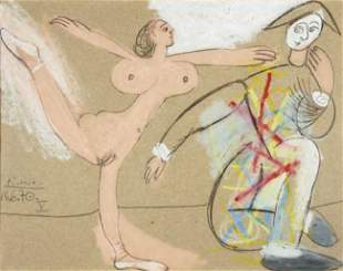 231: Pablo PICASSO - Nu dansant et Arlequin, 16 Juin 19