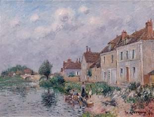 Gustave LOISEAU - Le Quai Saint Martin à Auxerre