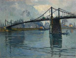 Robert Antoine PINCHON - Le pont des Andelys, le lo