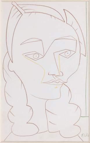 Francoise GILOT - Portrait de Cécile Miguel