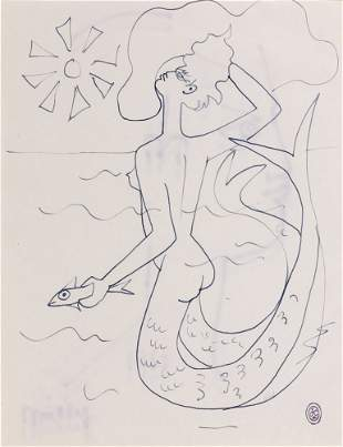 Jean COCTEAU - Sirène au soleil