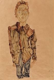 41: Egon SCHIELE - Young boy