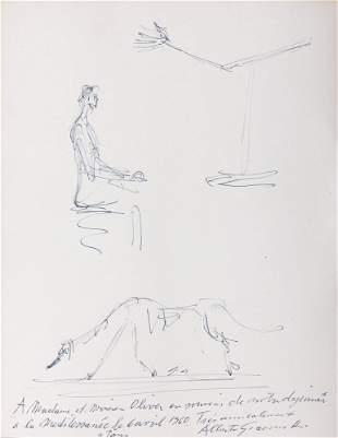 50: Alberto GIACOMETTI - Femme assise, La main et Le ch