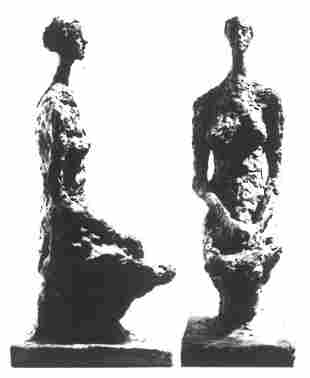 51: Alberto GIACOMETTI - Femme assise et verre a pied