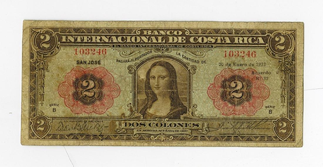Banco Internacional de Costa Rica, 1932, Issued