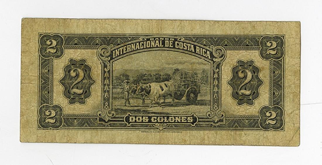 Banco Internacional de Costa Rica, 1932, Issued - 2