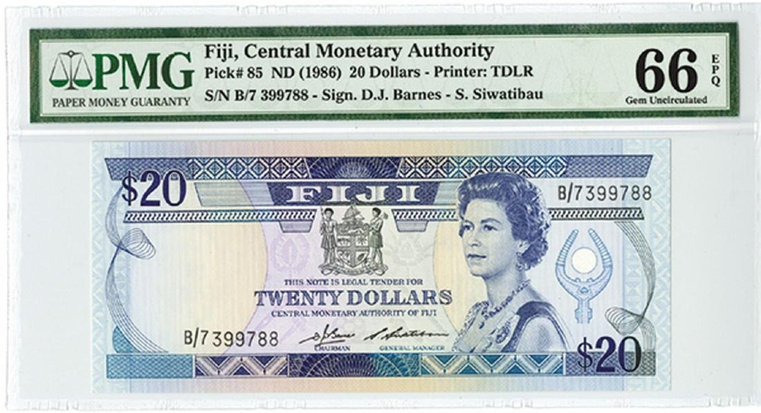 Fiji, Central Monetary Authority ND (1986) Issue