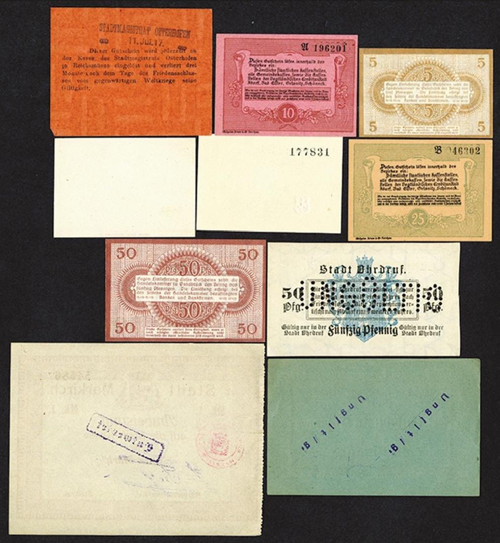 World War I Era emergency scrip. 1917 - 2