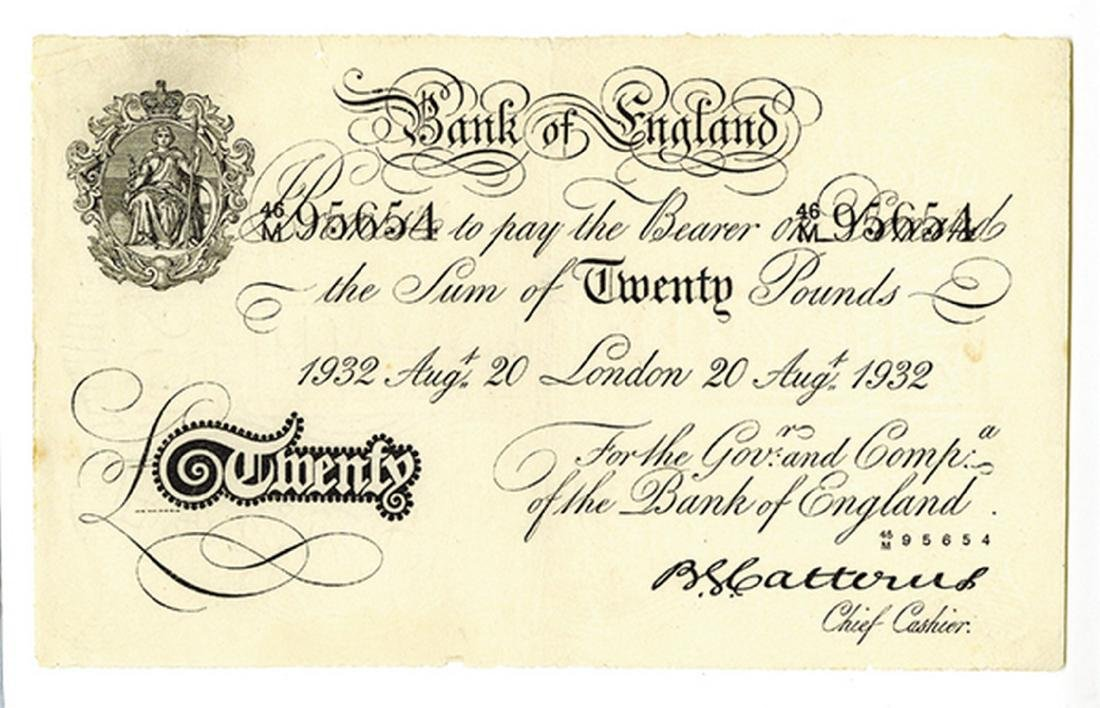 Bank of England, 1932, Issued Operation Bernhard