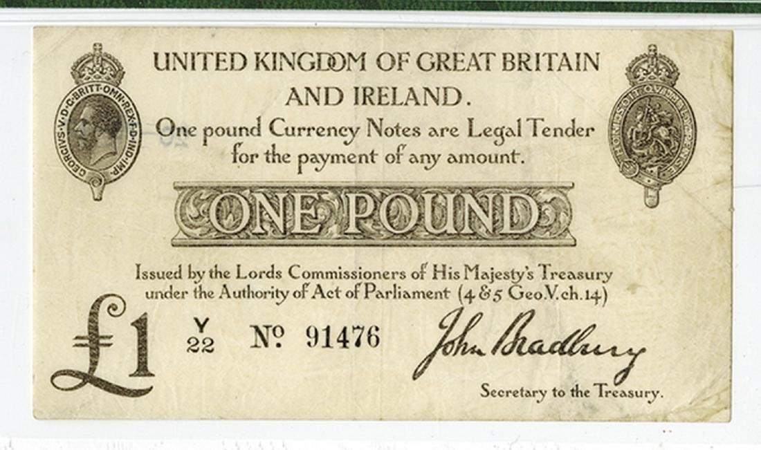 Bank of England, ND (1914) Issue Banknote. - 2