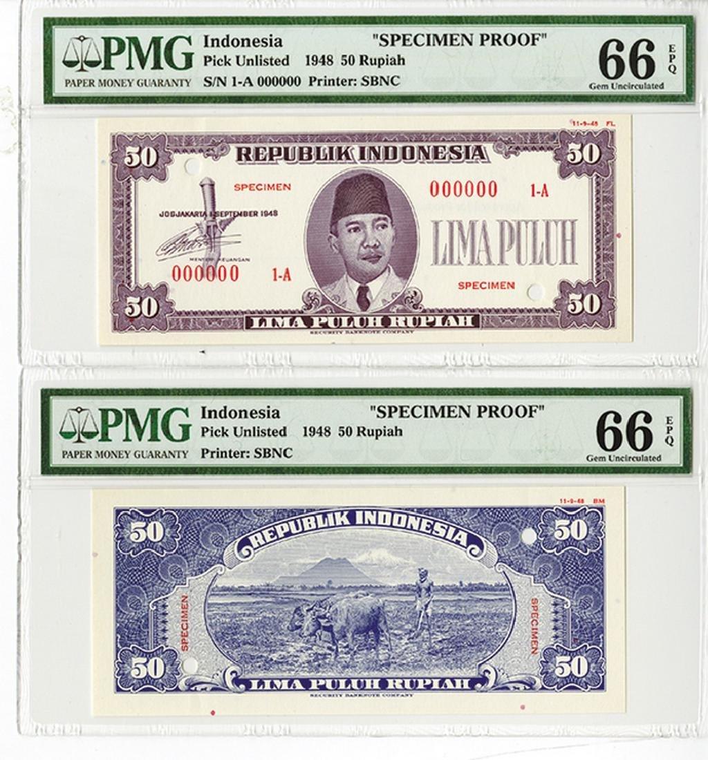 Republik Indonesia 1948 Specimen Uniface F & B Essay