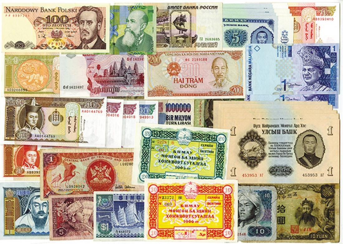 Various Banks, 1960s-2000s, Group of 35 Banknotes.