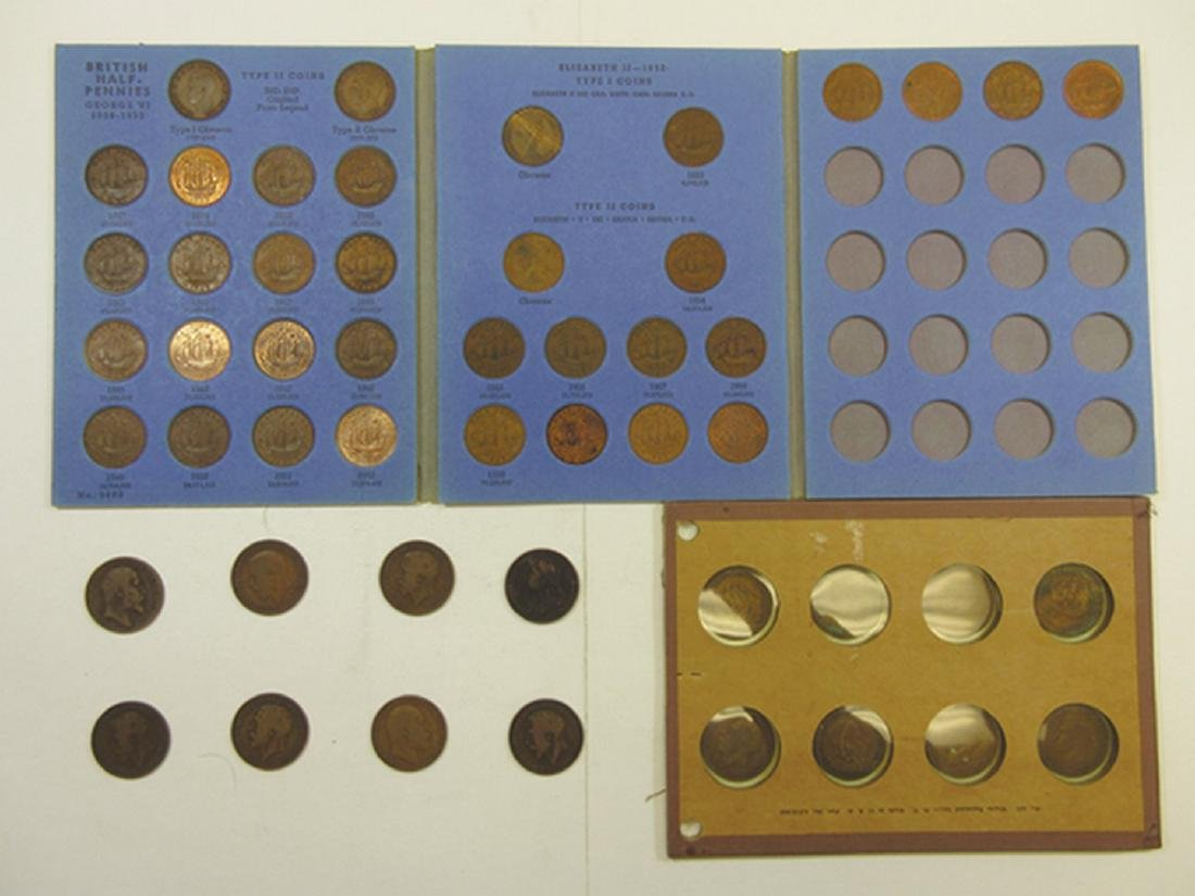 Great Britain Half Penny & Penny Assortment in Whitman
