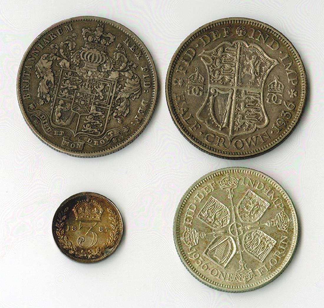 Great Britain: 1826-1936, Quartet of Silver Coins - 2