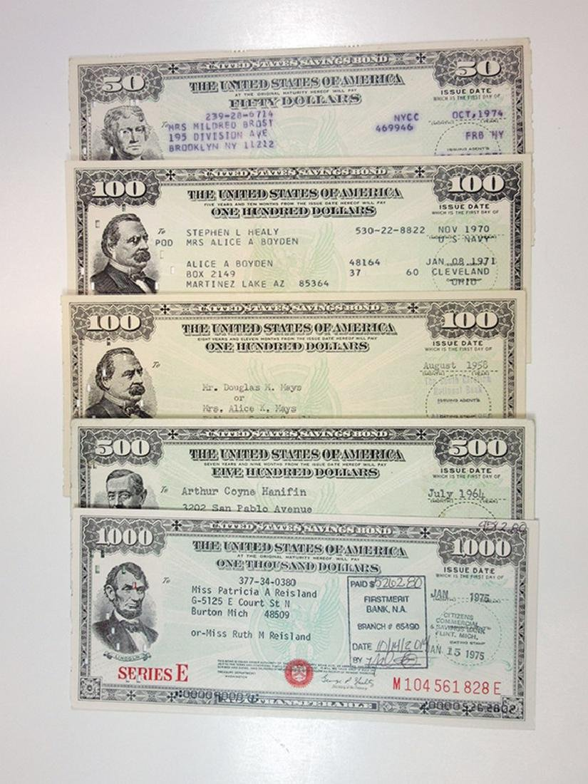 U.S. Savings Bonds, Series E, 1958-1975 Bond