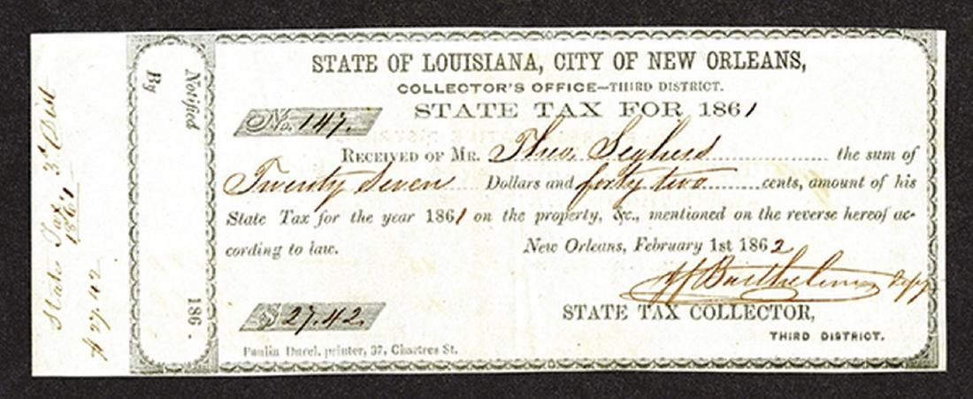 State of Louisiana, City of New Orleans State Property