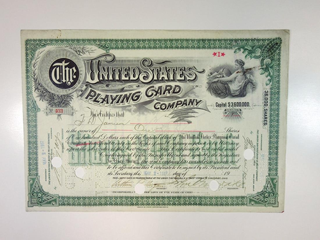 United States Playing Card Co., 1917 I/C Stock