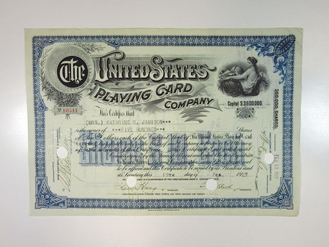 United States Playing Card Co., 1927 I/C Stock