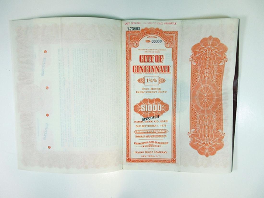 City of Cincinnati Trio of Specimen Bonds, 1949-1951 - 3