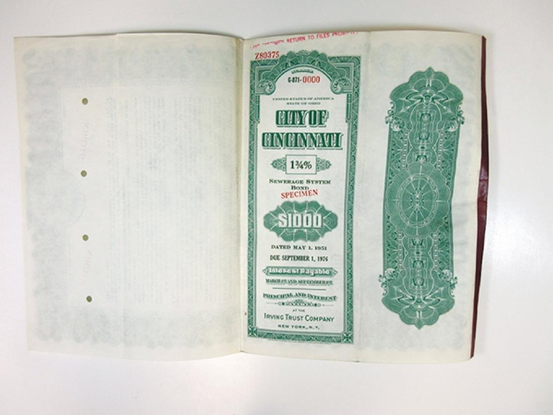 City of Cincinnati Trio of Specimen Bonds, 1949-1951 - 5