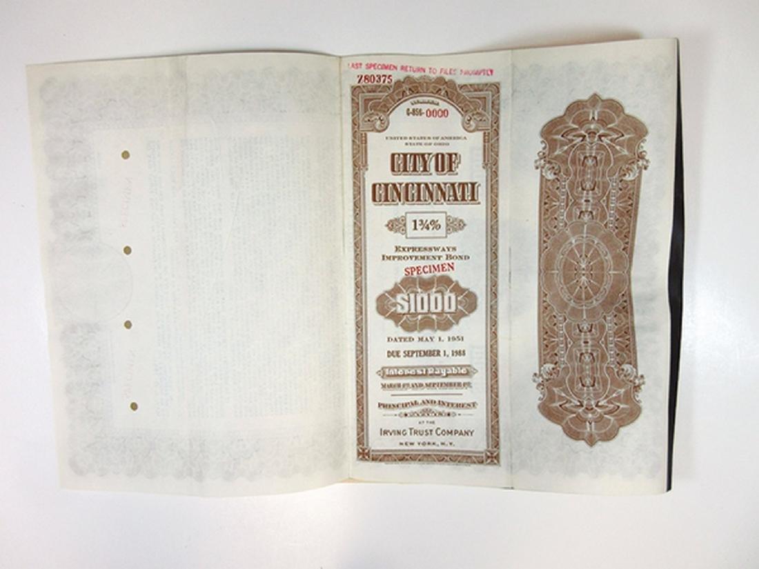 City of Cincinnati Trio of Specimen Bonds, 1949-1951 - 7