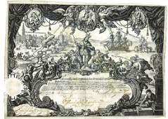 Real Compania de San Fernando de Seville, 1740's, One