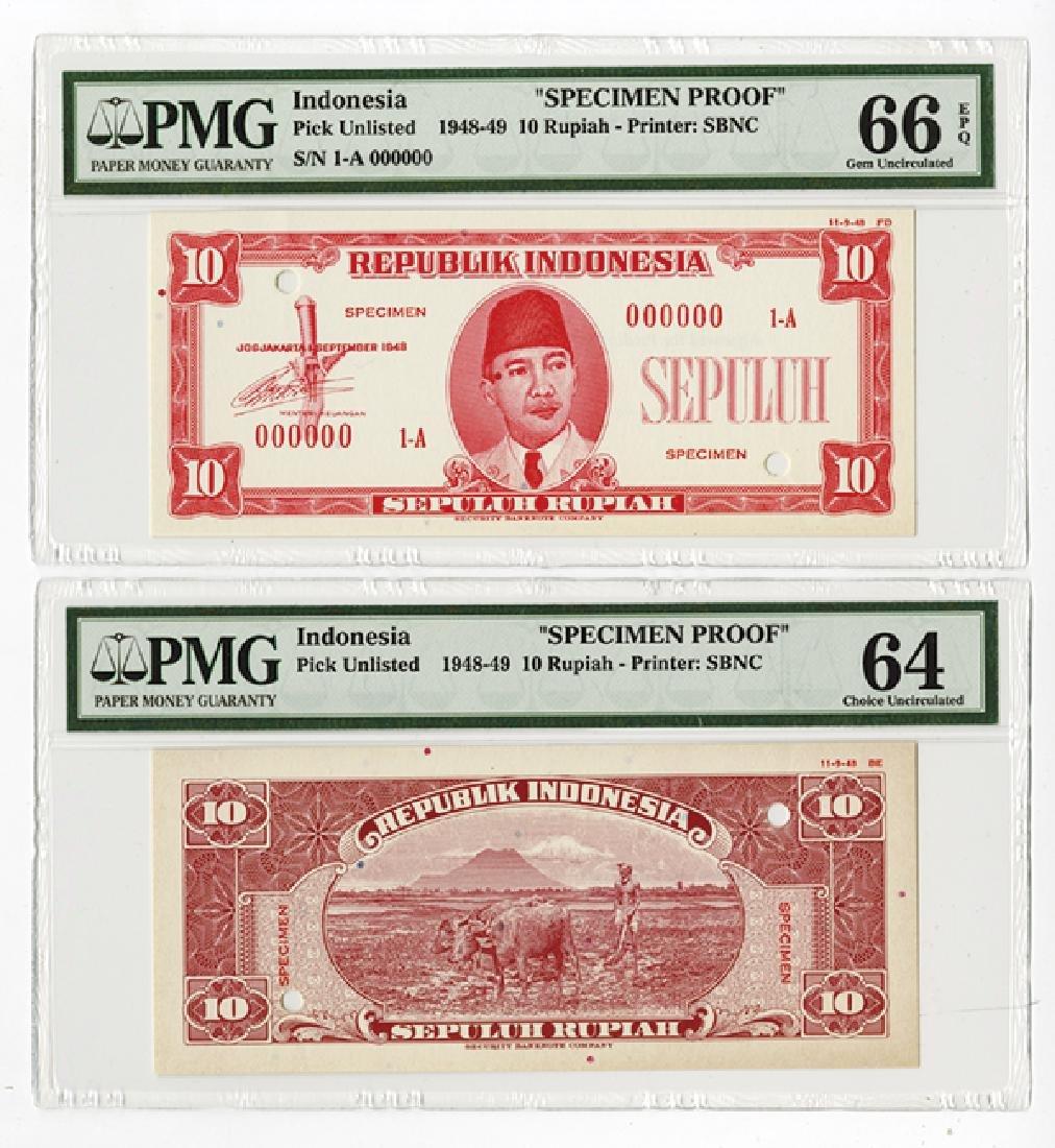 Republik Indonesia, 1948, 25 Rupiah, Specimen Essay