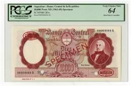 Banco Central De La Republica Argentina, ND (1961-69)