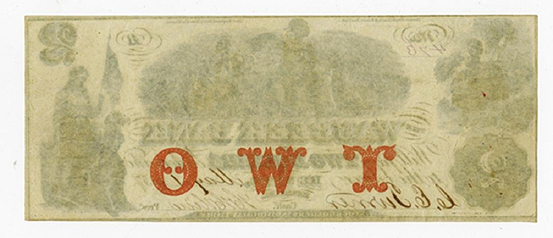 Waubeek Bank, 1857 Issued Obsolete Banknote. - 2