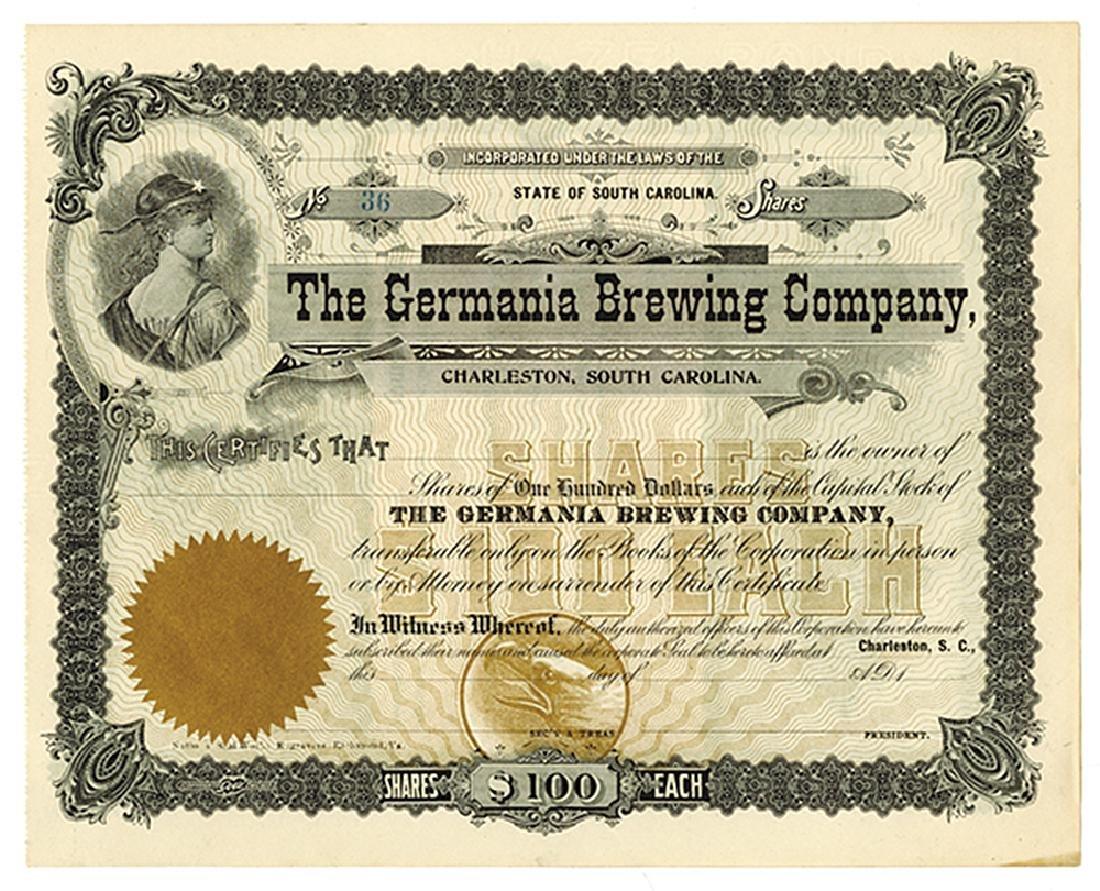 Germania Brewing Co., ca.1880-1900 Remainder Stock