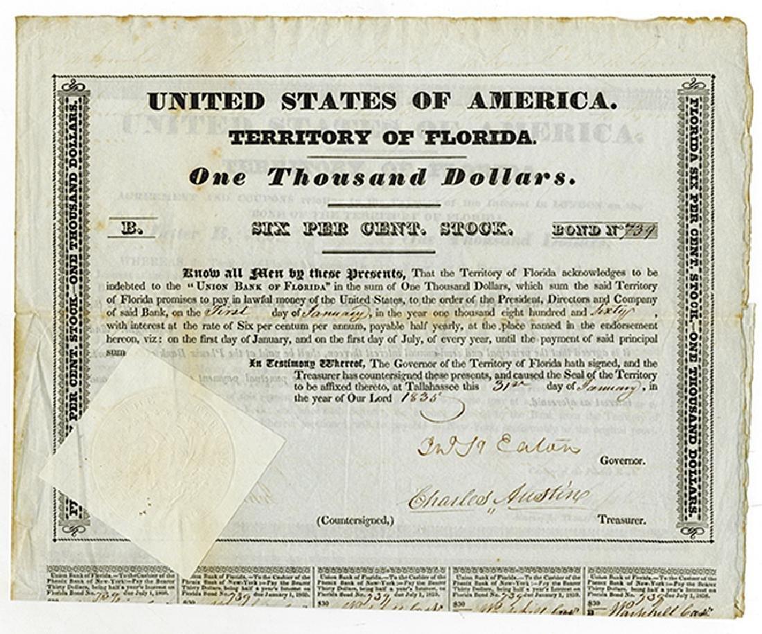 United States of America Territory of Florida, 1835