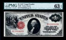 700: Fr.36 Legal Tender, $1, Series of 1917 Red Seal.