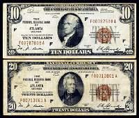 707: Fr.1860-F Federal Reserve Bank of Atlanta Pair.