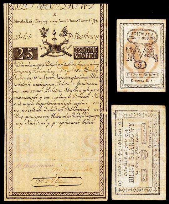 1444: Kingdom, Bilet Skarbowy Treasury Note, 1794 First