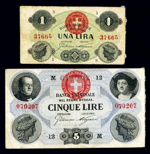 1837: Banca Nazionale Nel Regno D'Italia, 1866-96 Issue