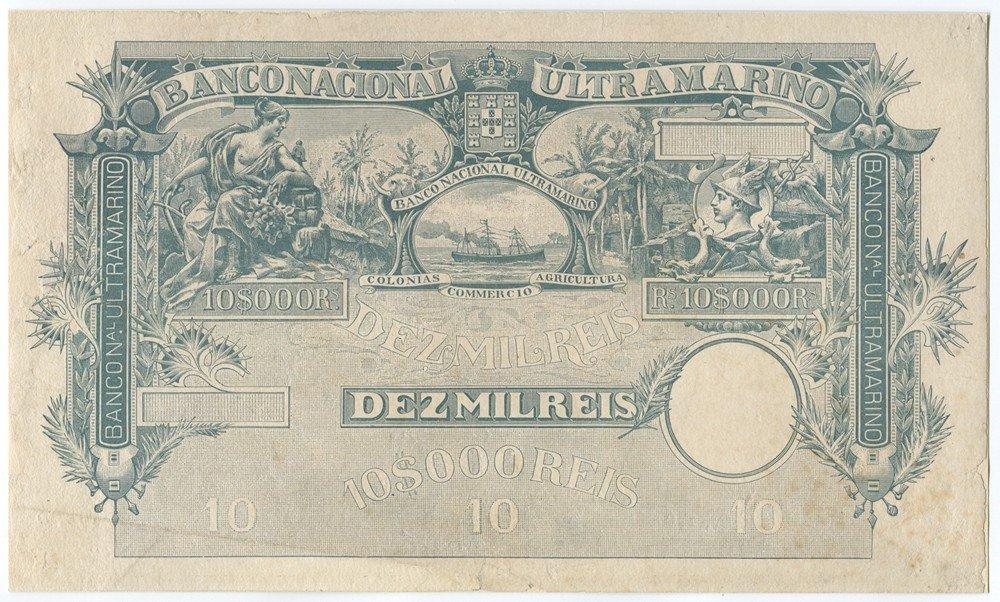 1: Banco Nacional Ultramarino, 1897-1905 Issue Proof.