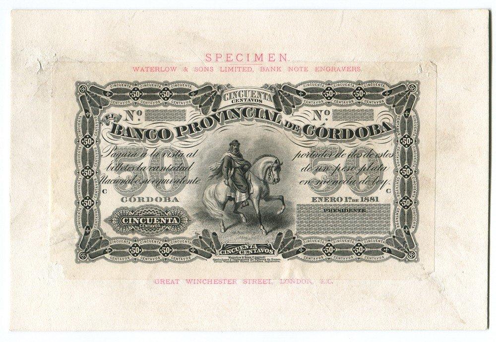 3: Banco Provincial de Cordoba, 1881 Issue Presentation