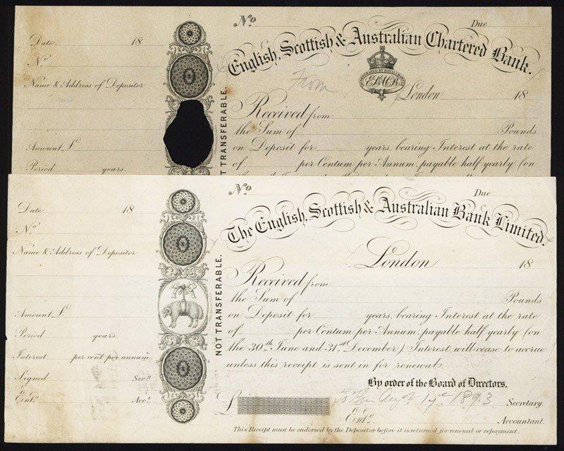 15: English, Scottish & Australian Bank Ltd CD Proof Pa