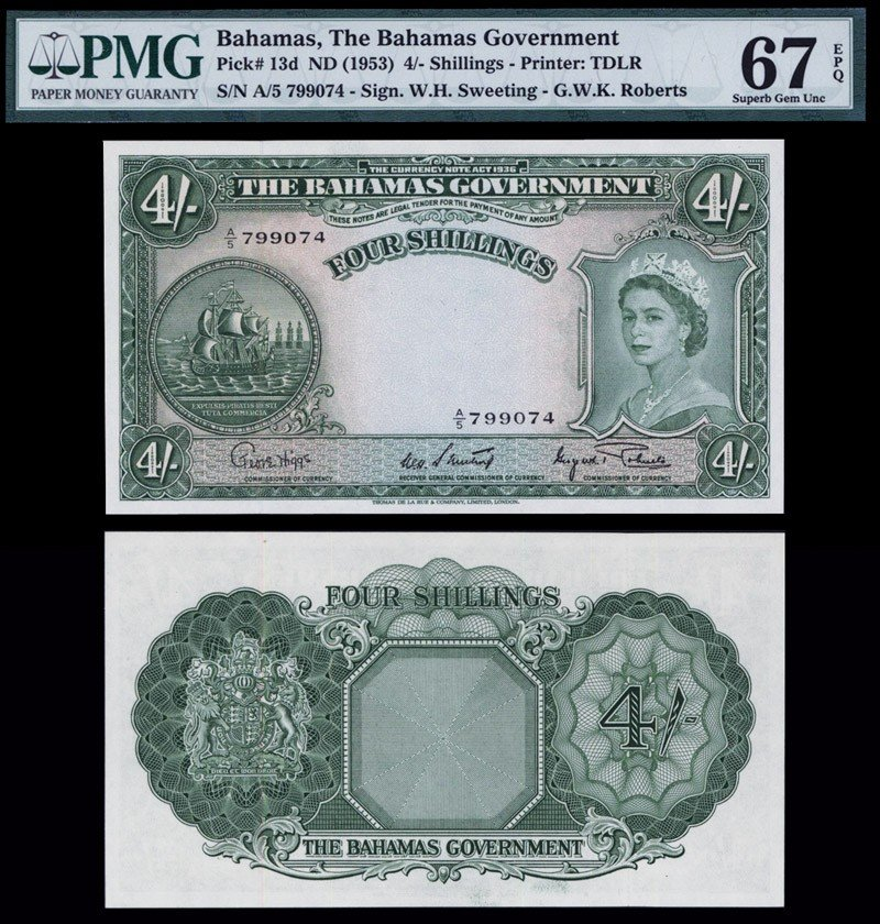 21: Bahamas Government 1953 Issue.