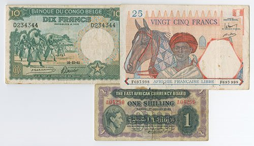 2003: African Banknote Trio.