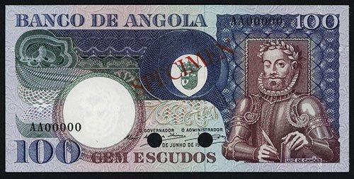 2005: Banco De Angola 1973 Issue, Color Trial Specimen.