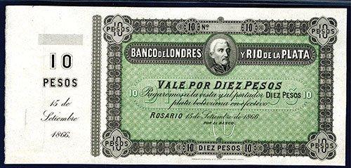 2006: Banco De Londres y Rio de la Plata, 1866 Issue Un