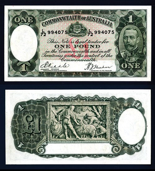 2011: Commonwealth of Australia, 1933-34 Issue Banknote