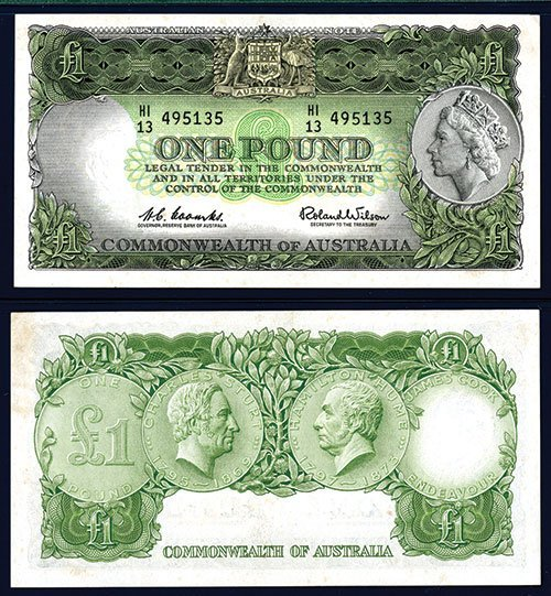 2013: Commonwealth of Australia, ND (1953-60) Issue.