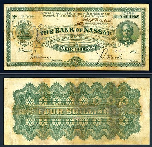 2015: Bank of Nassau, 1906 Issue Banknote With Unlisted